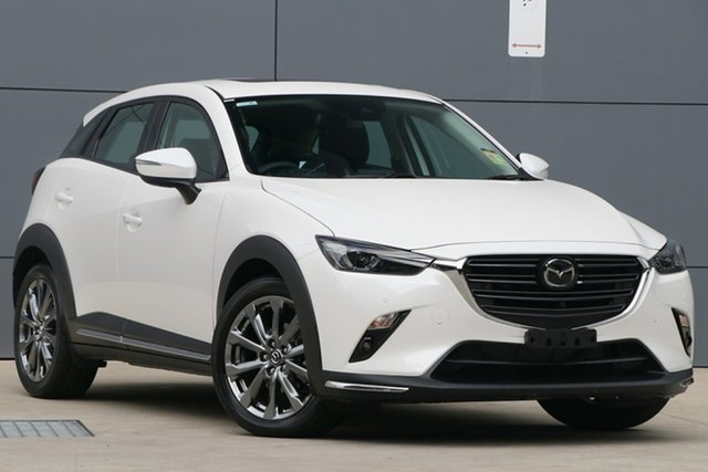 New Mazda CX-3 DK2W7A Akari SKYACTIV-Drive FWD LE, 2019 Mazda CX-3 DK2W7A Akari SKYACTIV-Drive FWD LE Snowflake White 6 Speed Sports Automatic Wagon