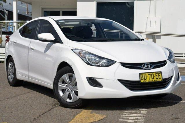 Used Hyundai Elantra MD2 Active, 2013 Hyundai Elantra MD2 Active White 6 Speed Sports Automatic Sedan