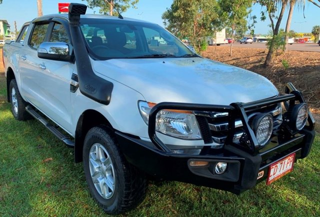 Used Ford Ranger PX XLT Super Cab, 2014 Ford Ranger PX XLT Super Cab White 6 Speed Sports Automatic Utility