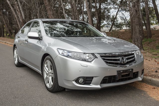 Used Honda Accord Euro CU MY13 Luxury, 2013 Honda Accord Euro CU MY13 Luxury Silver 5 Speed Automatic Sedan