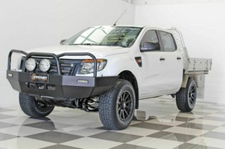 2013 Ford Ranger PX XL 2.2 Hi-Rider (4x2) White 6 Speed Automatic Crew Cab Chassis