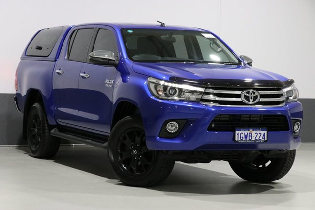 Used Toyota Hilux GUN126R SR5 (4x4), 2017 Toyota Hilux GUN126R SR5 (4x4) Blue 6 Speed Manual Dual Cab Utility