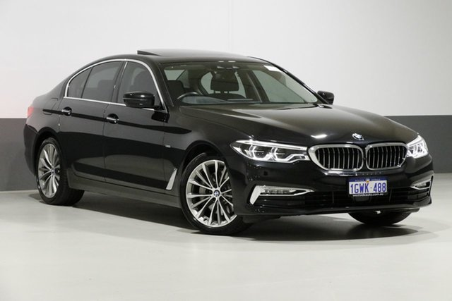 Used BMW 530i G30 MY17 Luxury Line, 2017 BMW 530i G30 MY17 Luxury Line Black 8 Speed Automatic Sedan
