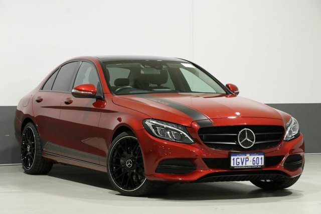 Used Mercedes-Benz C250 205 , 2015 Mercedes-Benz C250 205 Metallic Red 7 Speed Automatic Sedan