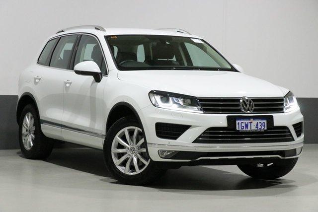 Used Volkswagen Touareg 7P MY15 150 TDI, 2015 Volkswagen Touareg 7P MY15 150 TDI White 8 Speed Automatic Wagon
