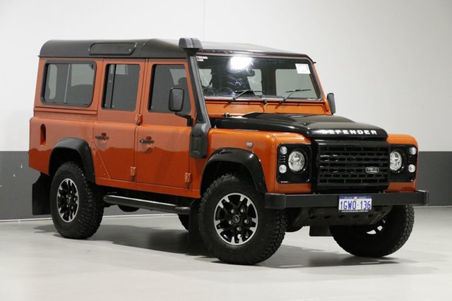 Used Land Rover Defender MY16 110 Adventure Edition (4x4), 2015 Land Rover Defender MY16 110 Adventure Edition (4x4) Phoenix Orange 6 Speed Manual Wagon