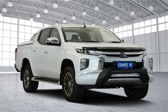 Used Mitsubishi Triton MR MY19 GLS Double Cab Premium, 2018 Mitsubishi Triton MR MY19 GLS Double Cab Premium White Diamond 6 Speed Sports Automatic Utility