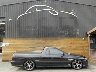 2006 Holden Ute VZ MY06 Thunder SS Black 6 Speed Manual Utility.