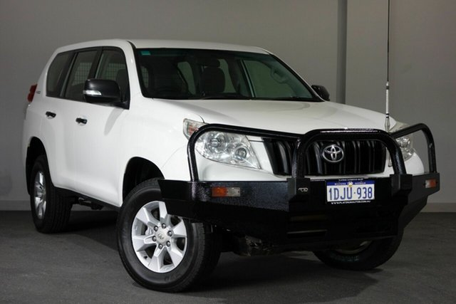 Used Toyota Landcruiser Prado KDJ150R GX, 2010 Toyota Landcruiser Prado KDJ150R GX White 6 Speed Manual Wagon