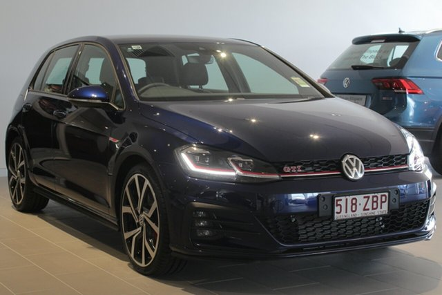 Demo Volkswagen Golf 7.5 MY19 GTI DSG, 2018 Volkswagen Golf 7.5 MY19 GTI DSG Atlantic Blue 7 Speed Sports Automatic Dual Clutch Hatchback