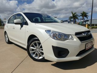 2013 Subaru Impreza G4 MY13 2.0i AWD White 6 Speed Manual Hatchback.