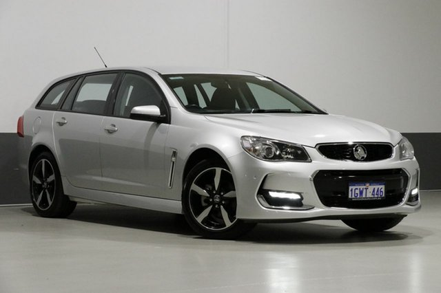 Used Holden Commodore VF II MY17 SV6, 2017 Holden Commodore VF II MY17 SV6 Silver 6 Speed Automatic Sportswagon