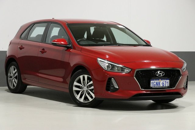 Used Hyundai i30 PD Active, 2018 Hyundai i30 PD Active Red 6 Speed Auto Sequential Hatchback