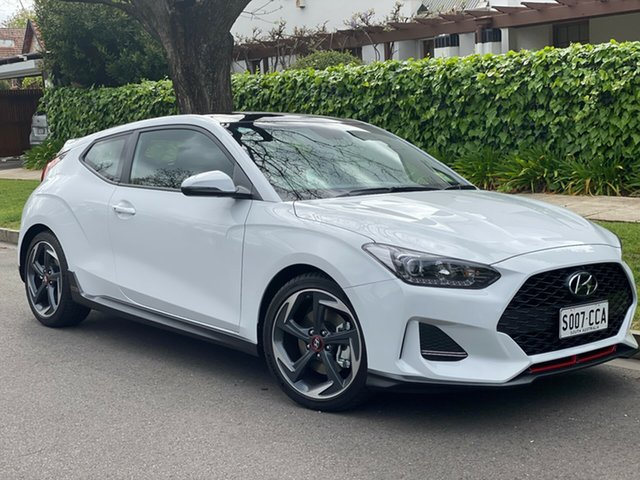 Demo Hyundai Veloster JS MY20 Turbo Coupe D-CT Premium, 2019 Hyundai Veloster JS MY20 Turbo Coupe D-CT Premium Chalk White 7 Speed