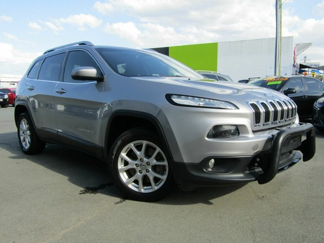 Used Jeep Cherokee KL MY15 Longitude (4x4), 2014 Jeep Cherokee KL MY15 Longitude (4x4) Silver 9 Speed Automatic Wagon