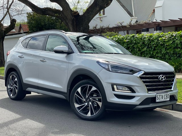 Demo Hyundai Tucson TL3 MY20 Highlander AWD, 2019 Hyundai Tucson TL3 MY20 Highlander AWD Platinum Silver 8 Speed Sports Automatic Wagon
