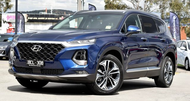 Demo Hyundai Santa Fe TM.2 MY20 Highlander, 2019 Hyundai Santa Fe TM.2 MY20 Highlander Stormy Sea 8 Speed Sports Automatic Wagon