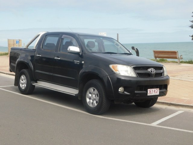 Used Toyota Hilux GGN25R MY07 SR, 2007 Toyota Hilux GGN25R MY07 SR Black 5 Speed Automatic Utility