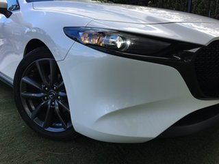 2019 Mazda 3 BP2H7A G20 SKYACTIV-Drive Touring White Pearl 6 Speed Sports Automatic Hatchback.