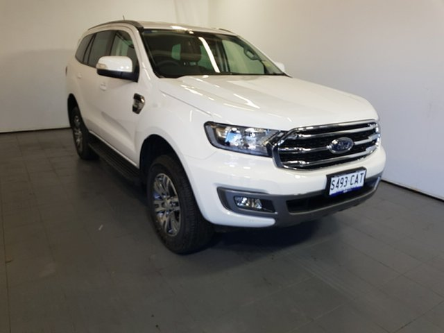 Demo Ford Everest UA II 2019.00MY Trend 4WD, 2019 Ford Everest UA II 2019.00MY Trend 4WD Arctic White 10 Speed Sports Automatic Wagon