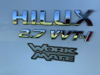 2011 Toyota Hilux TGN16R MY10 Workmate 4x2 White 4 Speed Automatic Cab Chassis