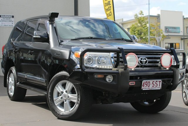 Used Toyota Landcruiser VDJ200R MY10 Sahara, 2012 Toyota Landcruiser VDJ200R MY10 Sahara Black 6 Speed Sports Automatic Wagon