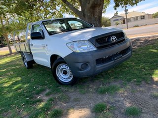 2011 Toyota Hilux TGN16R MY10 Workmate 4x2 White 4 Speed Automatic Cab Chassis.