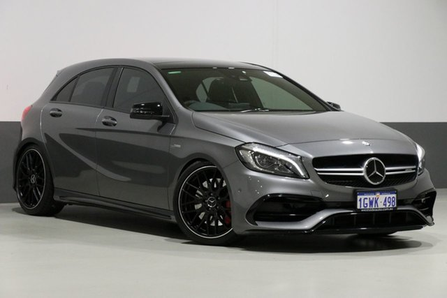 Used Mercedes-Benz A45 176 MY15 AMG, 2016 Mercedes-Benz A45 176 MY15 AMG Gaphite 7 Speed Auto Dual Clutch Hatchback