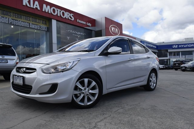 Used Hyundai Accent RB6 MY18 Sport, 2017 Hyundai Accent RB6 MY18 Sport Silver 6 Speed Sports Automatic Sedan