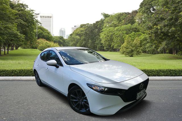 Demo Mazda 3 BP2H7A G20 SKYACTIV-Drive Touring, 2019 Mazda 3 BP2H7A G20 SKYACTIV-Drive Touring White Pearl 6 Speed Sports Automatic Hatchback