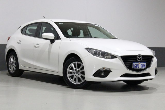 Used Mazda 3 BM MY15 Maxx, 2015 Mazda 3 BM MY15 Maxx Pearl White 6 Speed Automatic Hatchback
