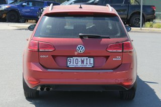 2015 Volkswagen Golf VII MY16 92TSI DSG Comfortline Sunset Red 7 Speed Sports Automatic Dual Clutch