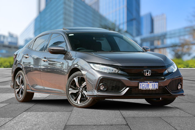 Demo Honda Civic 10th Gen MY19 RS, 2019 Honda Civic 10th Gen MY19 RS Modern Steel 1 Speed Constant Variable Hatchback