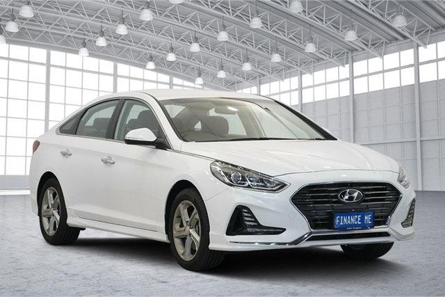 Used Hyundai Sonata LF4 MY18 Active, 2018 Hyundai Sonata LF4 MY18 Active White Cream 6 Speed Sports Automatic Sedan