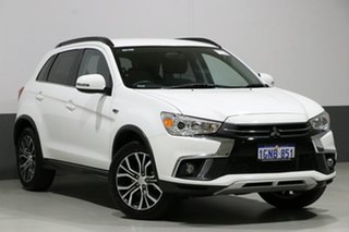 2018 Mitsubishi ASX XC MY18 LS (2WD) White Continuous Variable Wagon.