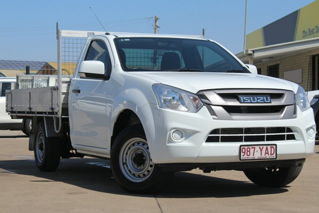 Used Isuzu D-MAX MY17 SX 4x2, 2018 Isuzu D-MAX MY17 SX 4x2 White 6 Speed Manual Cab Chassis