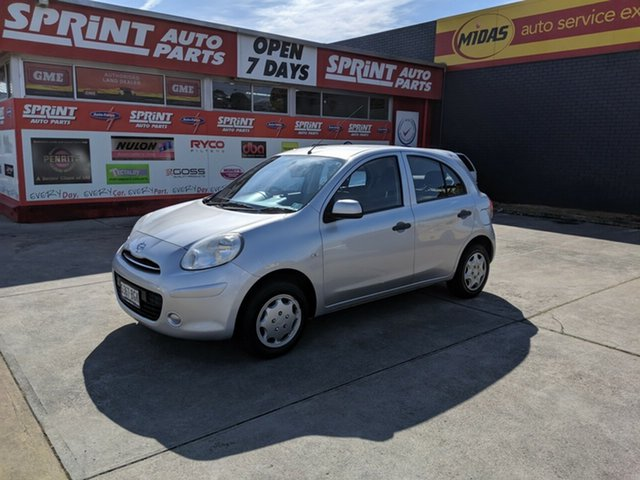 Used Nissan Micra K13 MY13 ST, 2013 Nissan Micra K13 MY13 ST Silver 4 Speed Automatic Hatchback