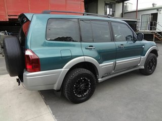 2003 Mitsubishi Pajero NP Exceed LWB (4x4) Green 5 Speed Auto Sports Mode Wagon.