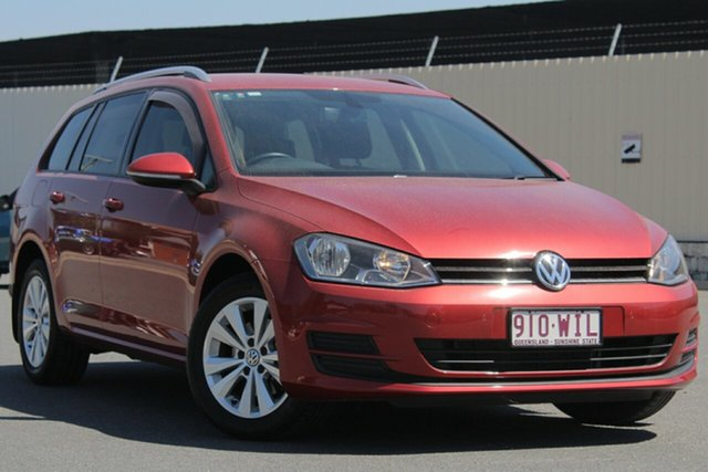 Used Volkswagen Golf VII MY16 92TSI DSG Comfortline, 2015 Volkswagen Golf VII MY16 92TSI DSG Comfortline Sunset Red 7 Speed Sports Automatic Dual Clutch