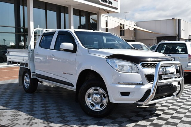 Used Holden Colorado RG MY15 LS Crew Cab, 2015 Holden Colorado RG MY15 LS Crew Cab White 6 Speed Manual Cab Chassis