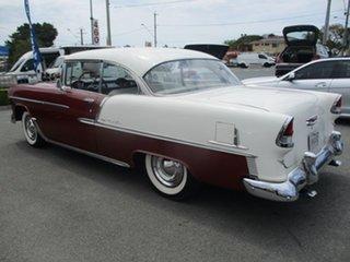 1955 Chevrolet Bel-Air PILLARLESS Burgundy Coupe.