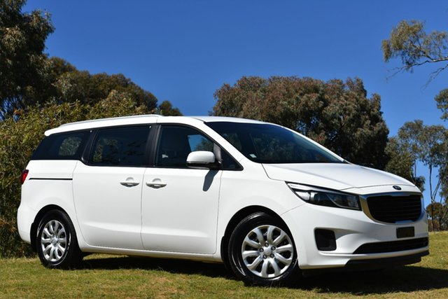 Used Kia Carnival YP MY17 S, 2017 Kia Carnival YP MY17 S Clear White 6 Speed Sports Automatic Wagon