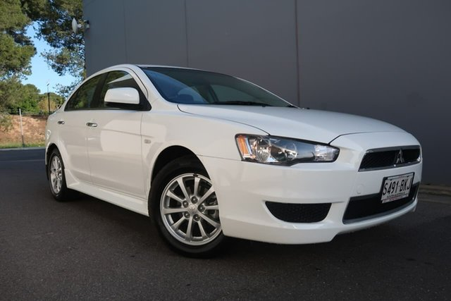 Used Mitsubishi Lancer CJ MY13 LX, 2012 Mitsubishi Lancer CJ MY13 LX White 6 Speed Constant Variable Sedan