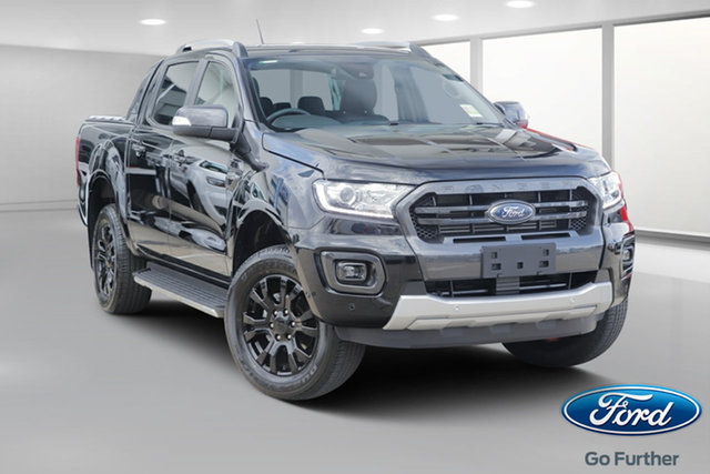 New Ford Ranger PX MkIII 2019.75MY Wildtrak Pick-up Double Cab, 2019 Ford Ranger PX MkIII 2019.75MY Wildtrak Pick-up Double Cab Shadow Black 10 Speed