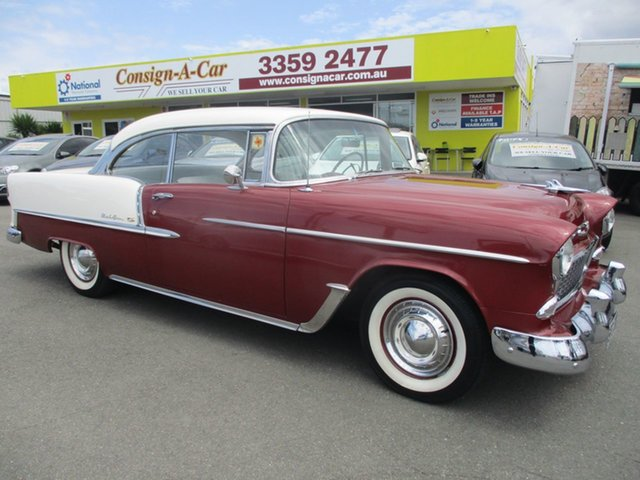 Used Chevrolet Bel-Air  , 1955 Chevrolet Bel-Air PILLARLESS Burgundy Coupe