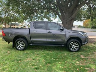2017 Toyota Hilux GUN126R SR5 Double Cab Grey 6 Speed Sports Automatic Utility.