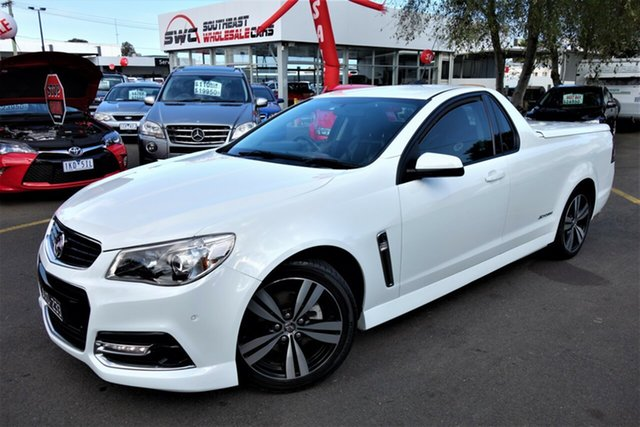 Used Holden Ute VF MY14 SV6 Ute Storm, 2014 Holden Ute VF MY14 SV6 Ute Storm White 6 Speed Sports Automatic Utility