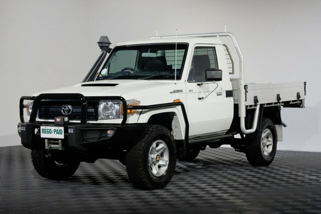 Used Toyota Landcruiser VDJ79R GX, 2014 Toyota Landcruiser VDJ79R GX French Vanilla 5 speed Manual Cab Chassis
