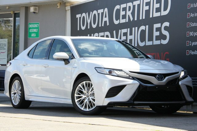 Used Toyota Camry AXVH71R SL, 2018 Toyota Camry AXVH71R SL Frosted White 6 Speed Constant Variable Sedan Hybrid