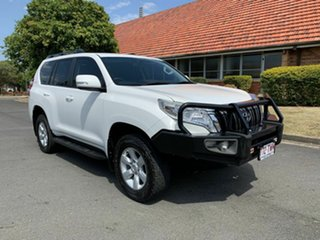 2014 Toyota Landcruiser Prado KDJ150R GXL White 5 Speed Automatic Wagon.